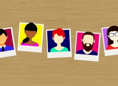 vector image of photographs of people