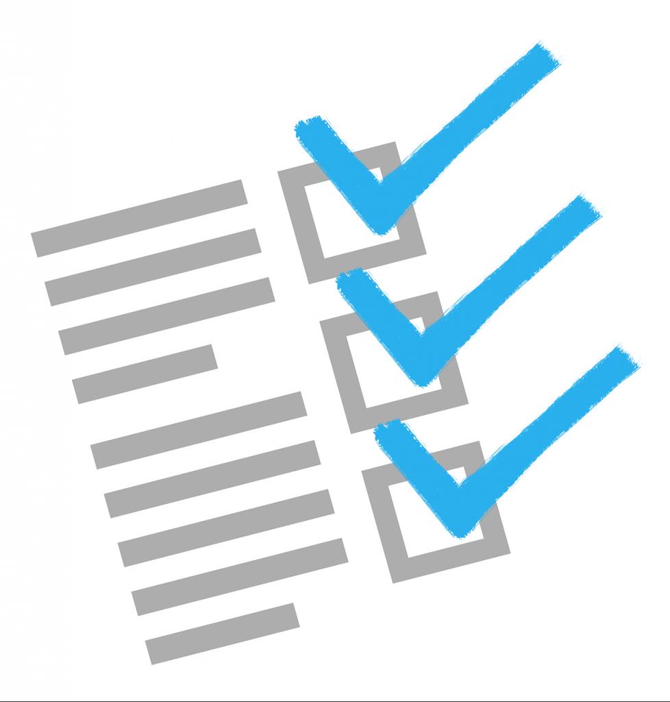 vector image of checklist