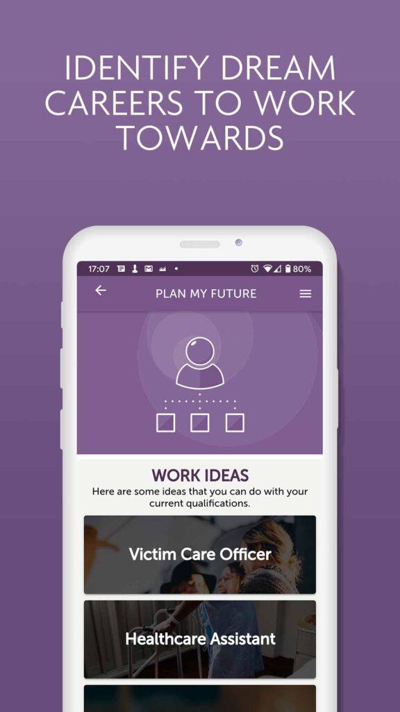 Image of iShine app - Plan my Future page
