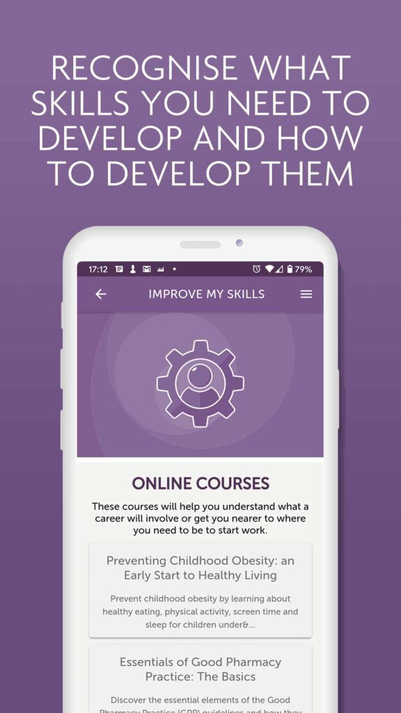 Image of iShine app - online courses page